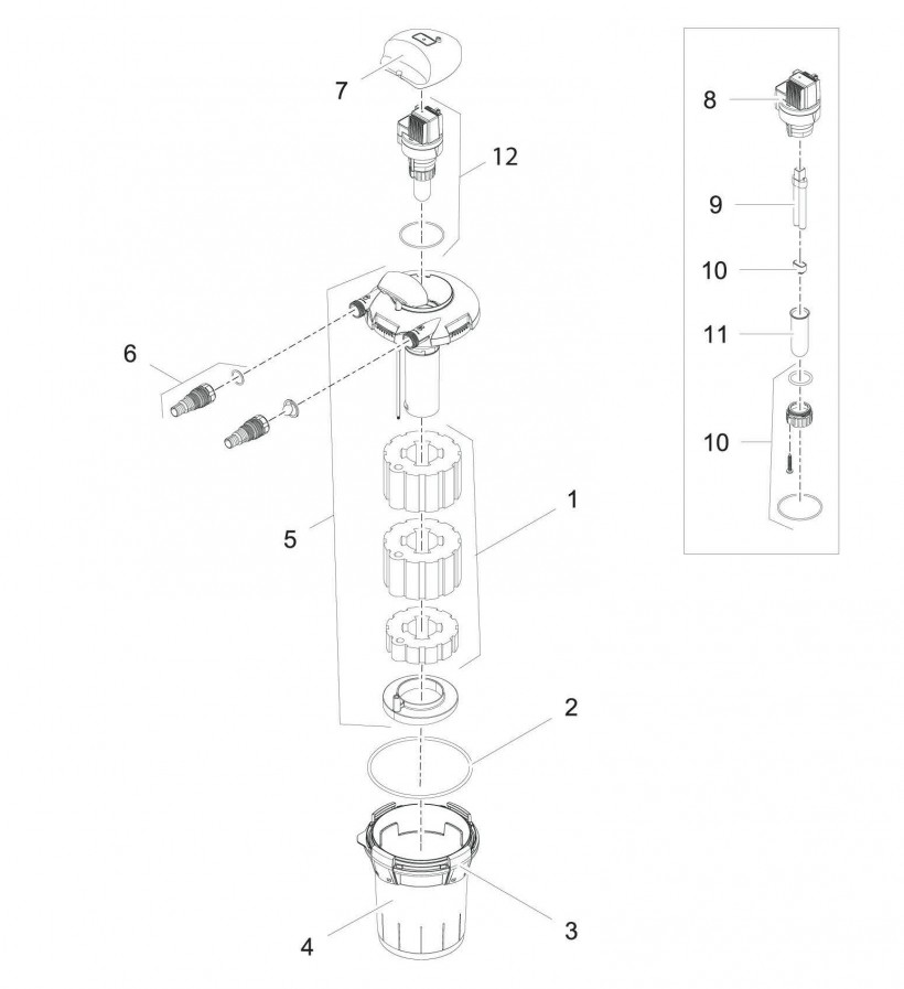 pi ces d tach es pour oase kit filtre oase biopress set 4000 filtration pompe uv. Black Bedroom Furniture Sets. Home Design Ideas