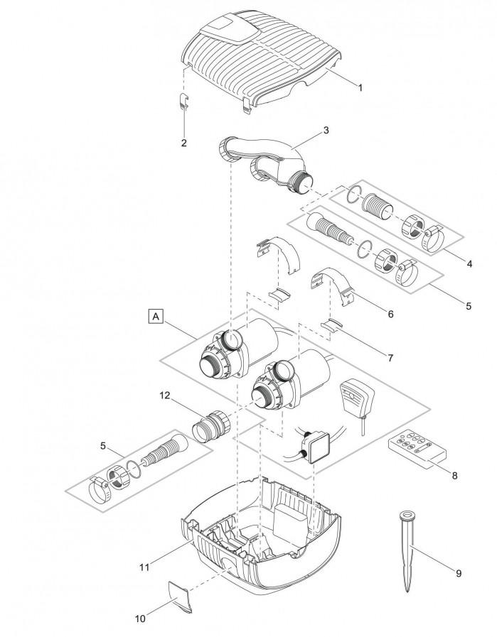 pi ces d tach es pour oase pompe de bassin oase pompe. Black Bedroom Furniture Sets. Home Design Ideas
