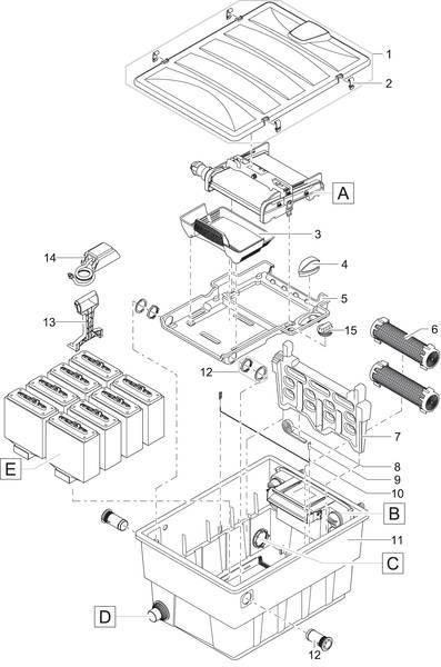 f36454a115999b Pièces détachées pour OASE FILTRE BIOTEC SCREENMATIC² SET 60000