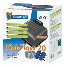 POMPE A AIR KOI FLOW 20 1200 L/H KIT AIR