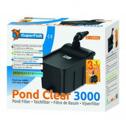 FILTRE SUPERFISH PONDCLEAR KIT 3000 UVC 5W + POND FLOW 1000