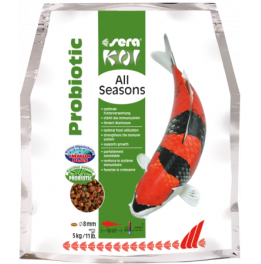 NOURRITURE KOI  ALL SEASONS PROBIOTIC 8MM 5KG