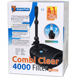 FILTRE SUPERFISH COMBI CLEAR 4000 - UVC 7W - POMPE 1950L/H
