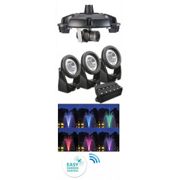 SET D'ECLAIRAGE LED COULEUR POND JET ECO