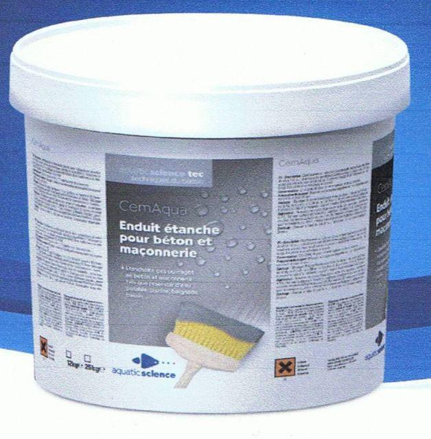 aquatic science cemaqua enduit tanche 25 kg. Black Bedroom Furniture Sets. Home Design Ideas