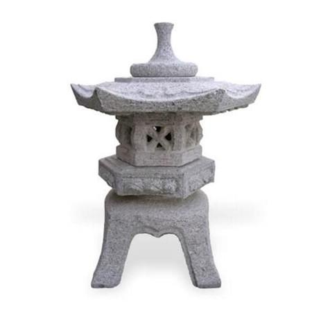 lanterne granit rokkaku yukimi h 40 cm. Black Bedroom Furniture Sets. Home Design Ideas