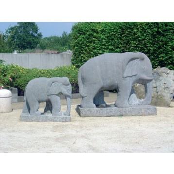 Eléphant granit l 30 cm   20 kg
