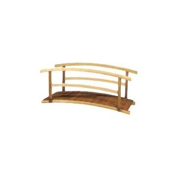Pont bois garde-corps courbé 350 x 90 cm