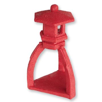 Décoration pagode rouge 27 X 24 X 42 cm