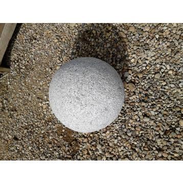 Boule granit gris diam  20 cm non percée