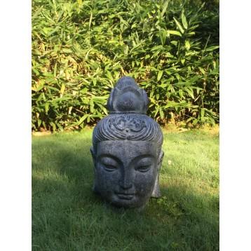 Tête de Bouddha décoration 30 x 32 x 52 cm