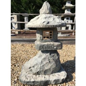 Lanterne japonaise en pierre de lune décoration (hauteur : 60 cm)