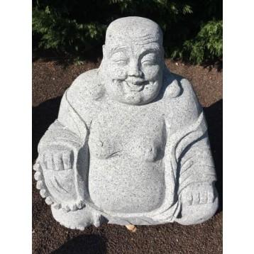 Bouddha assis granit décoration h 60 cm