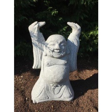 Happy bouddha granit décoration h 60 cm
