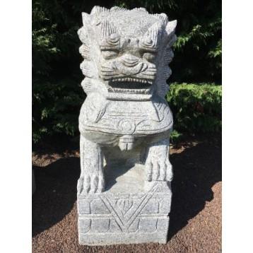 Lion granit décoration H 80 cm 260 kG