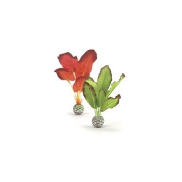Décor Aquarium BIORB Set de Plantes Soyeuses Vertes & Rouges