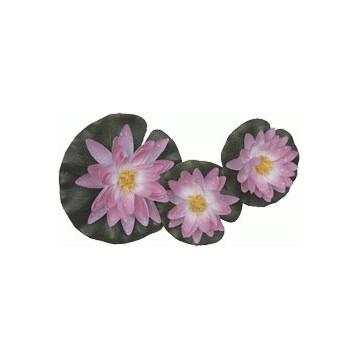 Nénuphar rose 3 fleurs